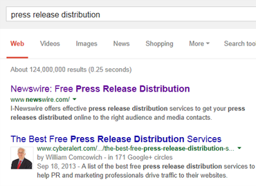 Ranked 1 for Press Release Distribution