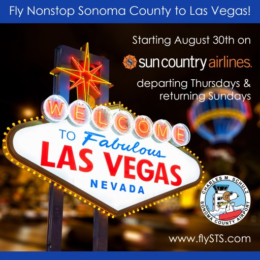 Fly Sonoma County to Las Vegas Starting August 30