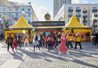 Dancing at Stockholm's Medborgarplatsen Square