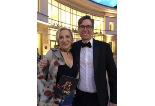 Monica Leigh at the Emmys with Richard Janes
