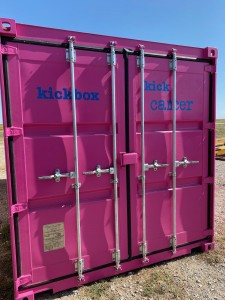 "Kickbox Storage ""Kick Cancer"""