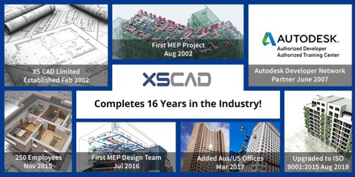 XS CAD Completes 16 Years in the Industry