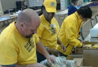 Helping provide food
