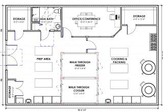 Floor Plan with Naming Opportunities