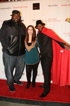 Cast members Quinton Aaron and Vida Ghaffari with writer-director-producer Romane Simon