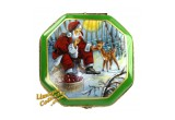 Santa Claus Feeding A Deer collectible Limoges box | LimogesCollector.com