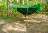 Go Outfitters brand Apex Camping Shelter in Hammock Camping Porch Mode