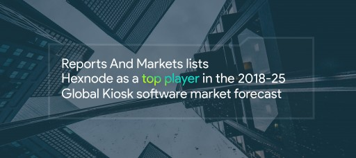 Reports and Markets Lists Hexnode as a Top Player in the 2018-25 Global Kiosk Software Market Forecast