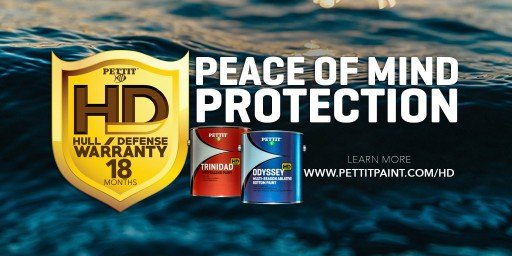 Pettit Marine Paint Challenges the Status Quo Offering New Odyssey HD and Trinidad HD Bottom Paints With 18 Month HD (Hull Defense) Limited Warranty