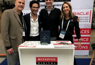 The McFadyen Digital Team with Mirakl CEO Adrien Nussenbaum