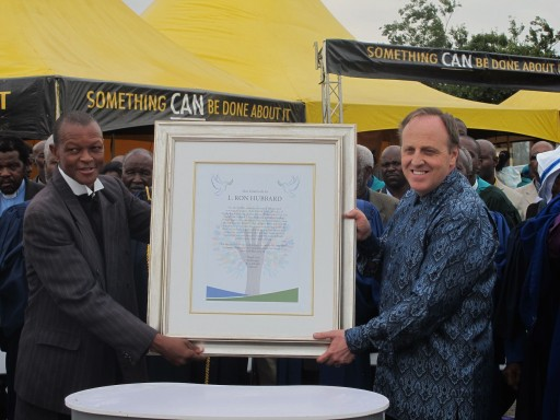 South African Christian Pastors Honor L. Ron Hubbard for Dedication to the Betterment of Mankind