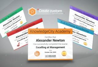 KnowledgeCity LMS - Custom Certificate