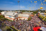 The growth of the Church of Scientology continued its driving movement forward with the grand opening of Scientology Media Productions — a 21st Century studio unparalleled in its power and capability. The ribbon-cutting touched off joyous celebration amongst the thousands pre