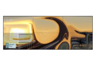 Video Wall Featuring 'Sunset Surf' by Petra U. Trimmel, San Francisco, California