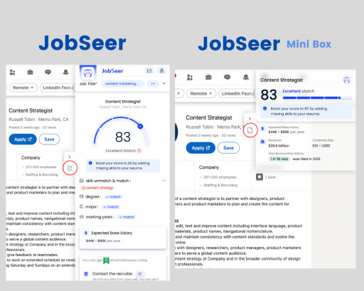 JobSeer Launches New Compact View, Mini Box, to Make Job Searches More Convenient for All Job Seekers