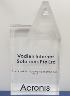 Vodien - Managed Service Provider for the Year 2015 (Acronis)