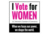 U.S. Women's Chamber of Commerce | I Vote for Women