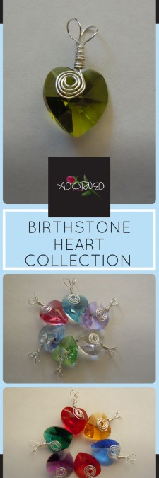 New!  Birthstone Heart Collection