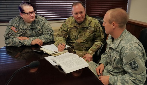 Lt. Col. Will M. Helixon Shares Military Justice Expertise -- Works With Local JAGs to Prepare for Trial