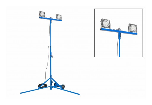 Larson Electronics Releases 100W Tripod Mounted Explosion Proof LED Light Tower, 100' 16/3 SOOW
