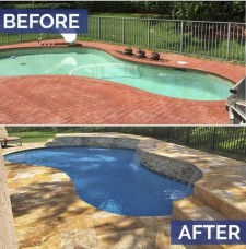 Jupiter pool remodeling