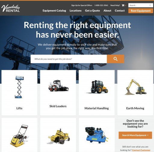 New Website Reflective of Growth for Vandalia Rental