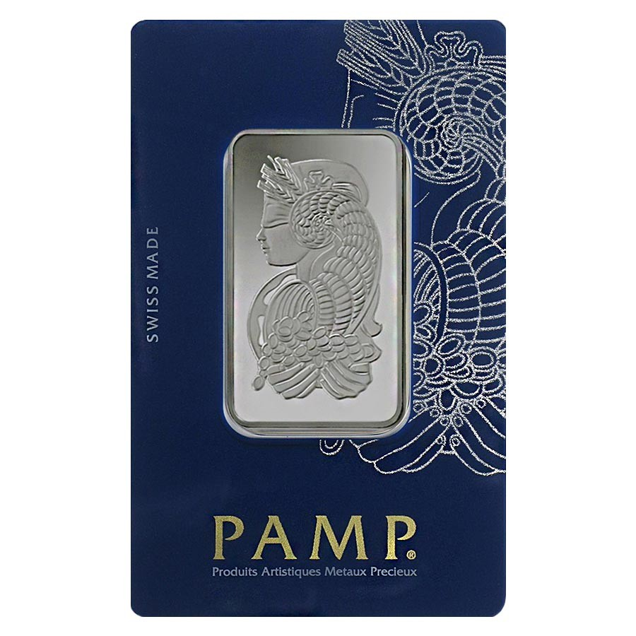 New w// Assay PAMP Suisse 1 oz Fortuna Silver Bar .999 Fine