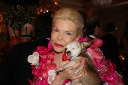 Tiny One-Eyed Chihuahua Attends Lois Pope's Lady in Red Gala as Special Guest