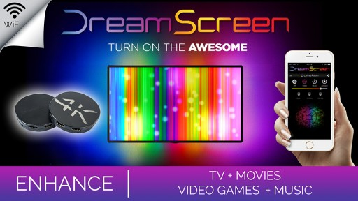 DreamScreen Launches Kickstarter for HD & 4K Smart TV Surround Lighting!