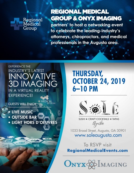 Regional Medical Group and Onyx Imaging Host Leading-Industry Networking Event in Augusta, GA