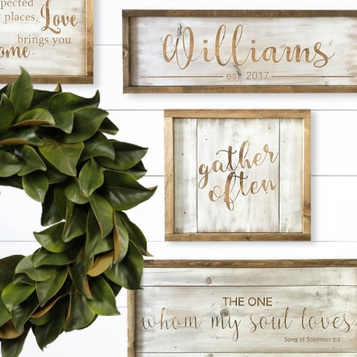 Silva Design Launches the Arcadian Collection of Farmhouse, Religious Wedding & Family Signs