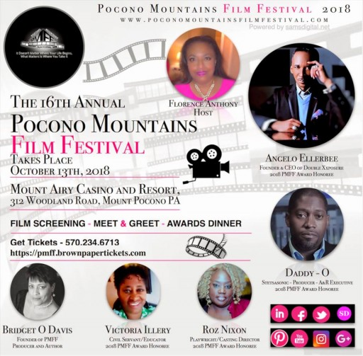 The 16th Annual Pocono Mountains Film Festival to Take Place October 13th, 2018