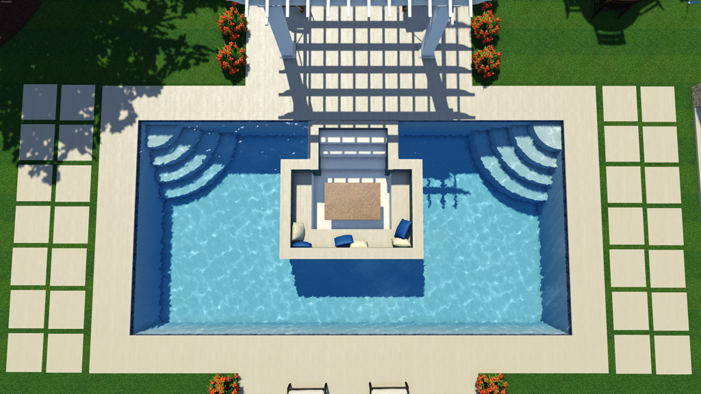 Thursday Pools Creates World S First Sunken Living Room Fiberglass Pool Newswire