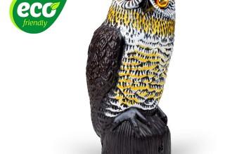 Livin' Well Solar Powered Owl Decoy