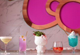 Cocktails in The Bow Room at Hello Kitty Grand Cafe