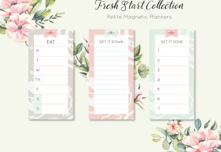 Fresh Start Petite Magnetic Planners