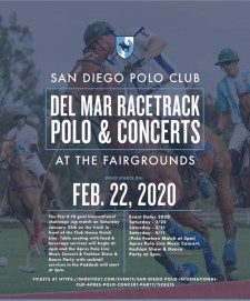 Polo Games & Concerts at the Del Mar Race Track