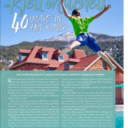 Roaring Fork Lifestyle magazine: Kjell Mitchell - Forty Years in Hot Water