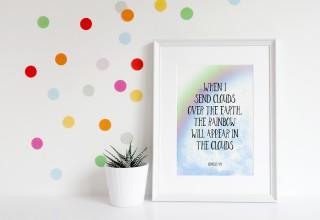 Rainbow Nursery Print
