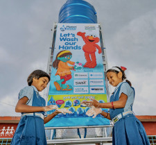 Planet Water Foundation handwashing project in Pune, India. October 2021