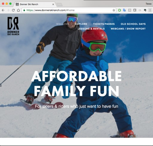 Donner Ski Ranch Launches New Website & Brand Identity