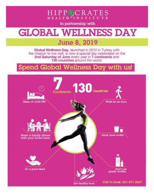 Hippocrates Health Institute Announces Its Participation in a Worldwide Event, Global Wellness Day, on June 8th 2019