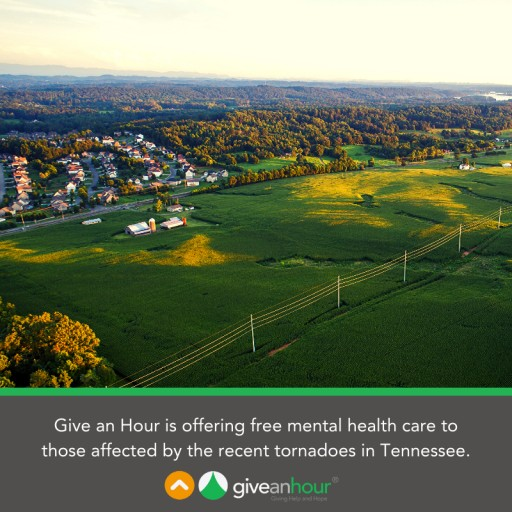 Give an Hour Offers Free Mental Health Services to Those Affected by the Tennessee Tornadoes