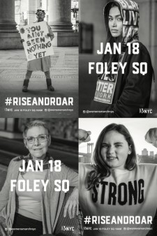 Women's March NYC - Jan. 18, 2020 at Foley Square