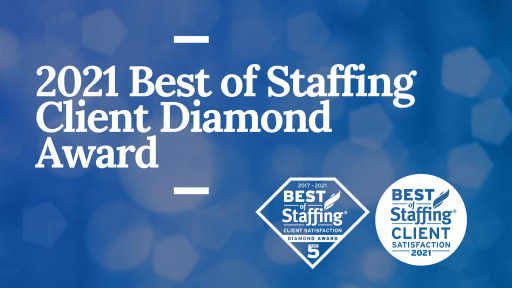 Sparks Group Wins ClearlyRated's 2021 Best of Staffing Client Diamond Award for Service Excellence
