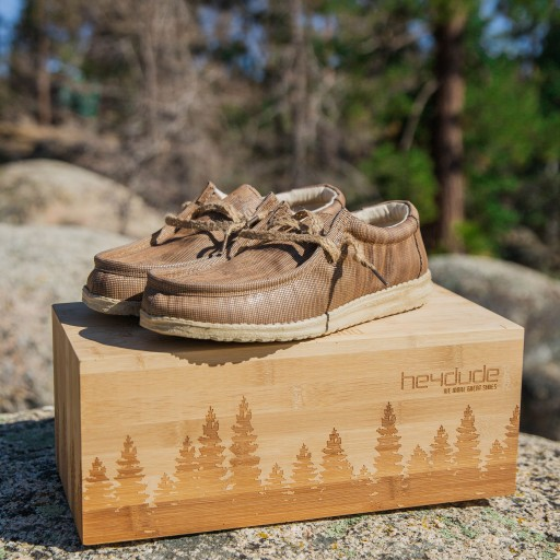 Hey Dude Shoes Creates a Limited-Edition Shoe Made From Repurposed Wood