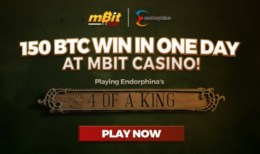 Endorphina Game Pays Over 150 BTC at mBit Casino