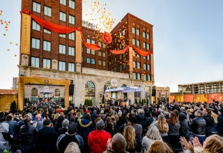 Dedication of a resplendent seven-story Church of Scientology for Kansas City.