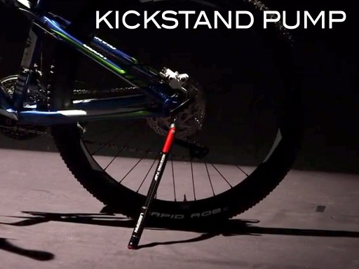 Kickstand Pump Combines the Most Basic Bicycle Accessories into an All-in-one Lightweight Single Kickstand