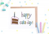 Happy Cake Day Card by Yellow Daisy Paper Co.
